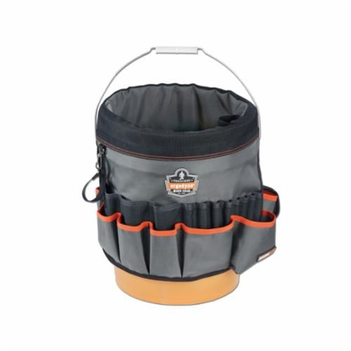 Arsenal® 13763 Bucket Organizer, 35 Pockets, Gray, 1680D Ballistic Polyester