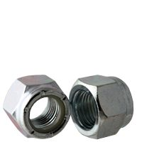 BBI NM Standard Lock Nut With Nylon Insert, Imperial, #10-24, Right Hand, 2, Low Carbon Steel, Zinc Clear Trivalent