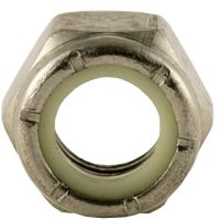 BBI 79NE Standard Lock Nut With Nylon Insert, Imperial, 5/8-11, Right Hand, A2 (18-8), Stainless Steel