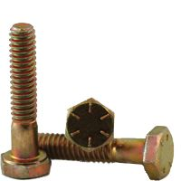 BBI 455055 Partially Threaded Cap Screw, 7/8-9, 9 in L, 8 Grade, Imperial, Alloy Steel, Zinc Yellow Bake CR+6