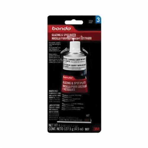 Bondo™ 907 1-Part Professional Glazing and Spot Putty, 4.5 oz Tube, Paste, Green