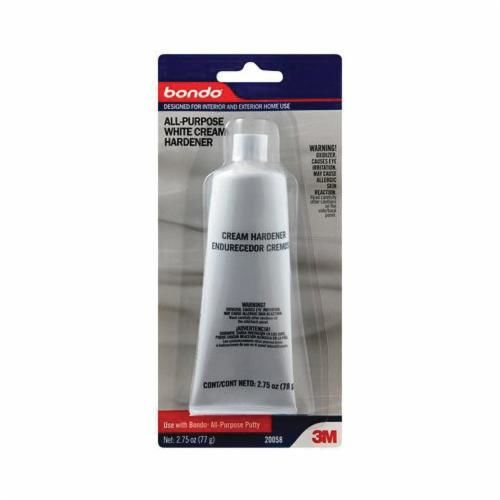 Bondo™ 20058 All Purpose Cream Hardener, 2.75 oz Tube, Paste, White