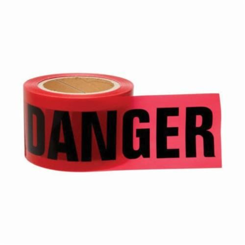 Brady® 91200 Light Weight Barricade Tape, DANGER, 200 ft L x 3 in W, Red/Black, Polyethylene