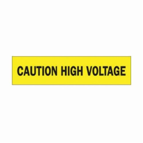 Brady® 91220 Light Weight Barricade Tape, CAUTION HIGH VOLTAGE, 200 ft L x 3 in W, Yellow/Black, Polyethylene