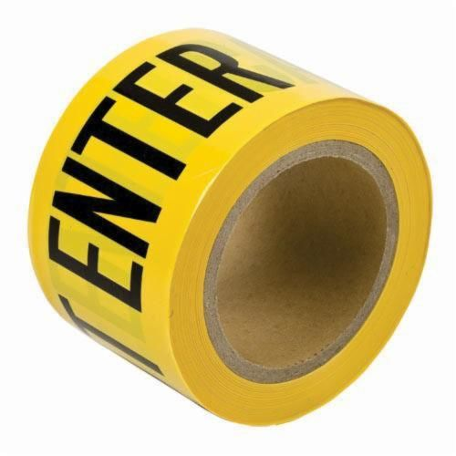 Brady® 91224 Light Weight Barricade Tape, CAUTION DO NOT ENTER, 200 ft L x 3 in W, Yellow/Black, Polyethylene