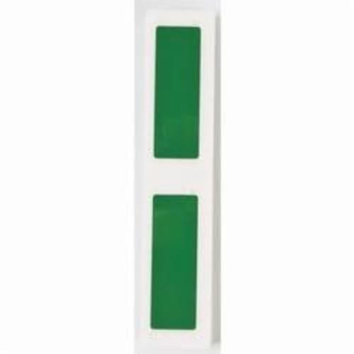 Brady® M71EP-176-593-GN Engraved Plate Raised Panel Label, 3 in W x 1 in H, Green, B-593 Polyester