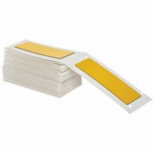 Brady® M71EP-176-593-YL Engraved Plate Raised Panel Label, 3 in W x 1 in H, Yellow, B-593 Polyester