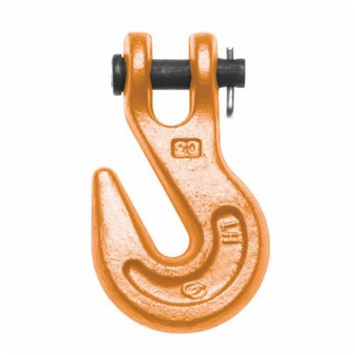 Campbell® 4503315 Grab Hook, 1/4 in Trade, 4100 lb Load, 30, 43 Grade, Clevis Attachment, Alloy Steel