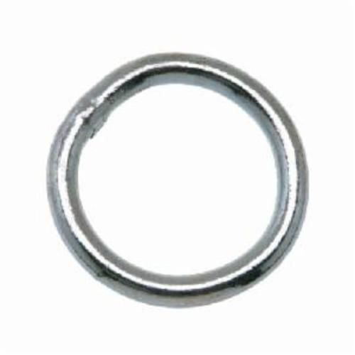 Campbell® T7660841 Welded Ring, 0.22 in Wire, 1-1/4 in ID, 200 lb Load, Steel, Zinc Plated