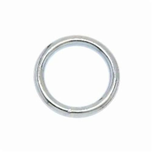 Campbell® T7665012 Welded Ring, 0.18 in Wire, 1 in ID, 200 lb Load, Steel, Nickel Plated