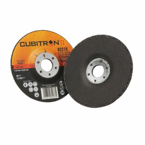Cubitron™ II 046719-82279 Cut-Off Wheel, 4-1/2 in Dia x 1/8 in THK, 7/8 in, 36 Grit, Ceramic Abrasive