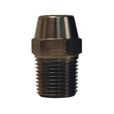 Dixon® FMS1000 Hex Nipple, 1 in, MNPT, Stainless Steel, Domestic