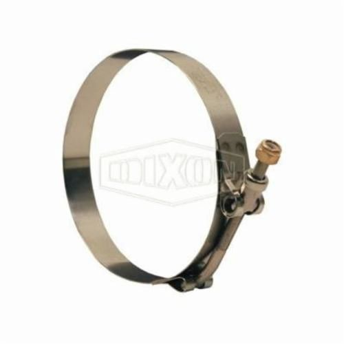 Dixon® STBCL Long T-Bolt Clamp, 12-3/4 to 13-21/64 in, 0.025 in T, Stainless Steel, Domestic