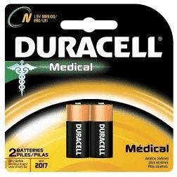 Duracell® MN9100B2PK Alkaline Battery, Alkaline Manganese Dioxide, 1.5 VDC, 800 mAh, N