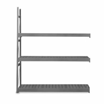 EQUIPTO® V-Grip™ 1016D62A-GY Add-On Medium Duty Bulk Rack With Solid Decking, 72 in H x 72 in W x 24 in D