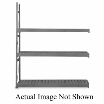 EQUIPTO® V-Grip™ 1016D62A-WH Add-On Medium Duty Bulk Rack With Solid Decking, 72 in H x 72 in W x 24 in D