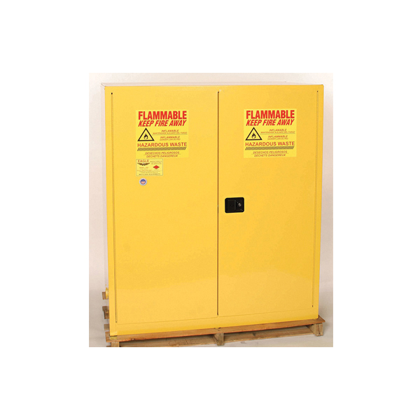 Eagle Manufacturing HAZ MAT Vertical Flammable Safety Cabinet, 110 Gal, 65  In H X 58 In W X 31 1/2 In D