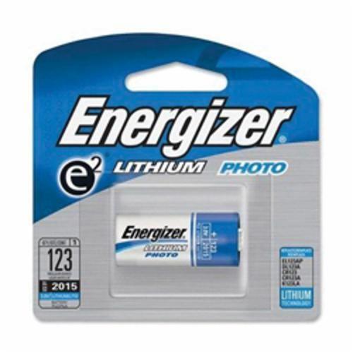 Energizer® EL123APBP Non-Rechargeable Battery, Lithium/Manganese Dioxide, 3 V, 1500 mAh