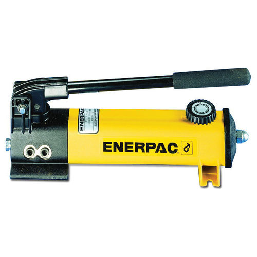 ENERPAC® P Lightweight Hydraulic Hand Pump, 1/4-18 FNPT Inlet/Outlet Port, 20 cu-in Reservoir, 2 Stages, 10000 psi