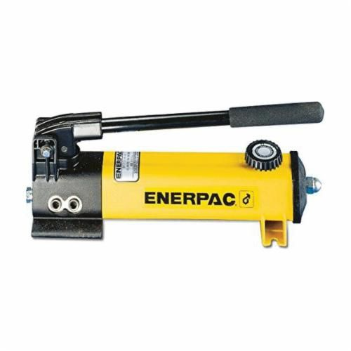 Enerpac® P Series Light Weight Hydraulic Hand Pump, 2 Stages, 200 to 10000 psi, 0.221 to 0.055 Cu-in Displacement