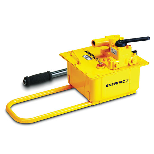 ENERPAC® P ULTIMA Hydraulic Hand Pump, 3/8-18 FNPT Inlet/Outlet Port, 453 cu-in Reservoir, 2 Stages, 10000 psi