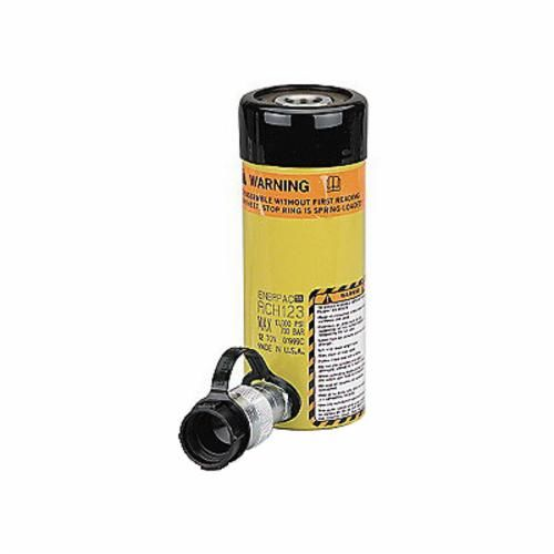 Enerpac® RCH Single Acting Spring Return Plunger Cylinder, 2.88 in Dia Bore, 6.1 in Stroke, 12.05 in H, 2.13 in Dia