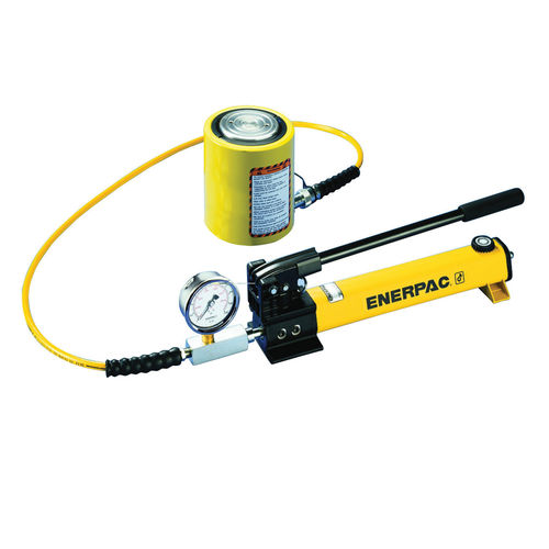 ENERPAC® RCS Single-Acting Low Height Cylinder Pump Set, 5 Pieces, 10000 psi Pressure, 2 Phase, 2 Speeds
