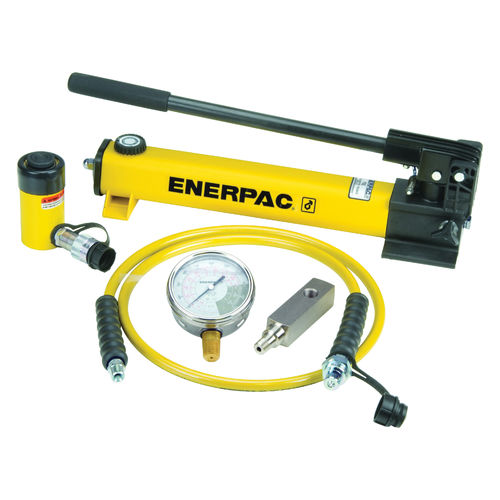 ENERPAC® RC General Purpose Single-Acting Cylinder Pump Set, 5 Pieces, 10000 psi Pressure, 2 Phase, 2 Speeds