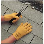 Fuzzy Duck® 962L-10 Fuzzy Duck® 962 Multi-Purpose Coated Gloves, SZ 10/L, Vinyl/PVC Palm, Yellow, Vinyl/PVC