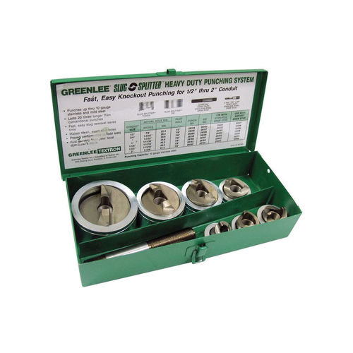 Greenlee® 7307 Hydraulic Knockout Punch Set, 10 ga, Stainless Steel Housing