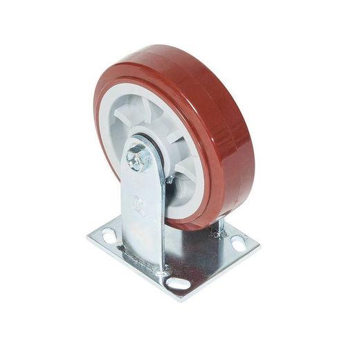 Greenlee® CR6 Rigid Caster, 900 lb Load, 6 in Dia, Polyurethane over Polyolefin Wheel