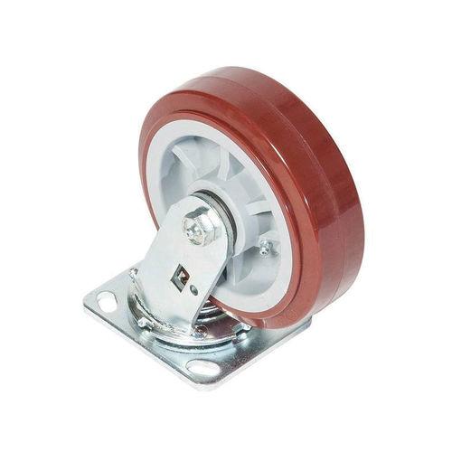 Greenlee® CS6 Swivel Caster, 900 lb Load, 6 in Dia, Polyurethane over Polyolefin Wheel