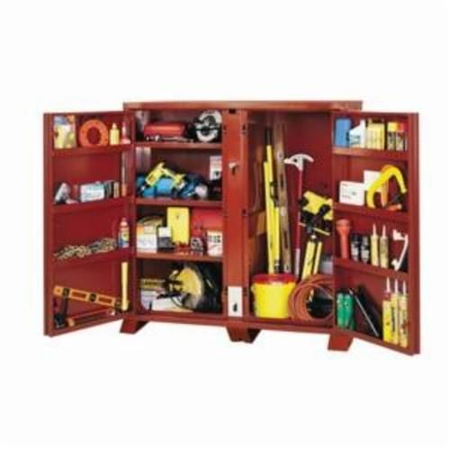 Jobox® 1-697990 2-Door Heavy Duty Open Side Jobsite Storage Cabinet, 60-3/4 in x 24-1/4 in W x 60.13 in D, Steel