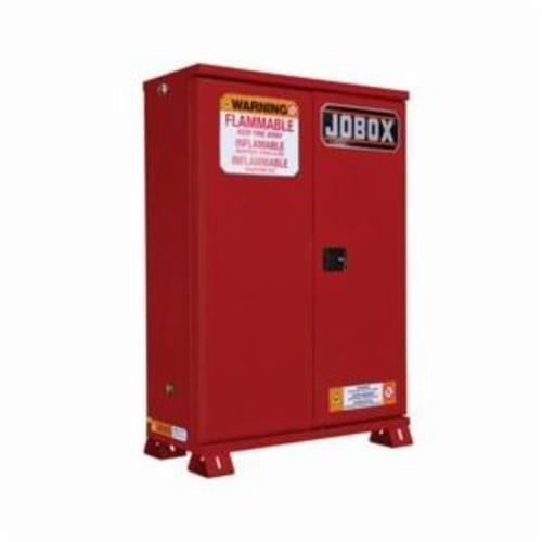 Jobox® 1-857610 Heavy Duty Safety Cabinet, 45 gal, 57.91 in H x 45.47 in W x 14.78 in D, 18 ga Steel