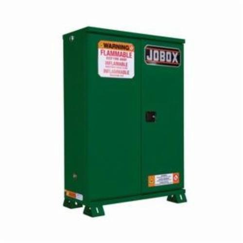 Jobox® 1-857670 Heavy Duty Safety Cabinet, 45 gal, 57.91 in H x 45.47 in W x 14.78 in D, 18 ga Steel