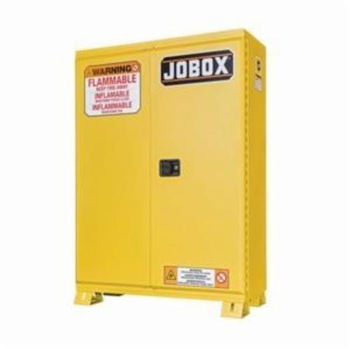 Jobox® 1-857990 Heavy Duty Safety Cabinet, 45 gal, 57.91 in H x 45.47 in W x 14.78 in D, 18 ga Steel