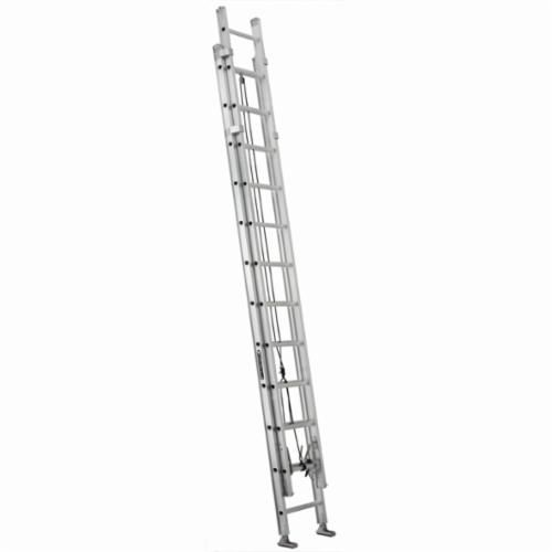 Louisville® AE1224HD-E34 Extra Heavy-Duty Extension Ladder With Automatic Adjusting Leveler, 24 ft OAL, 375 lb Load