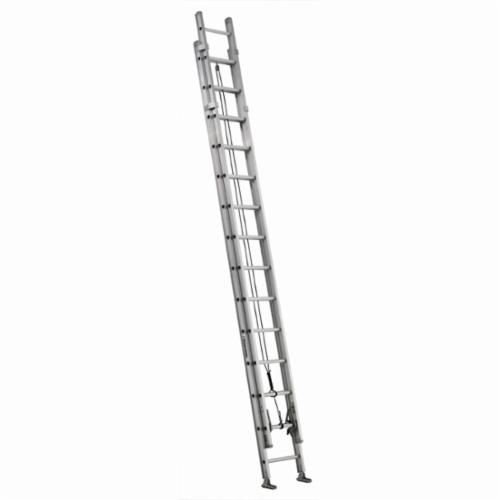 Louisville® AE1228HD Extra Heavy-Duty Extension Ladder, 28 ft OAL, 375 lb Load, 12 in Adjustable Increments, Aluminum