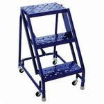 Louisville® GSW1603-W01W03 Louisville® GSW1603-W01W03 Type IAA Rolling Warehouse Ladder With 20 in Extra Deep Top, Handrail and Gaudrail