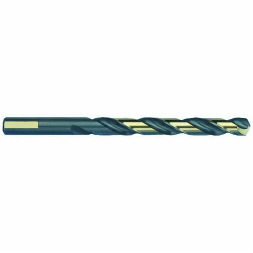 MARXBORE™ 80598 Heavy Duty Jobber Length Drill, 3/16 in Dia x 3-1/2 in L, HSS, Black/Gold Oxide