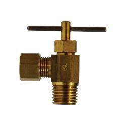 1 Midland 46-023LF Lead Free Brass Needle Valve Brass 3//8 Compression x 3//8 Compression