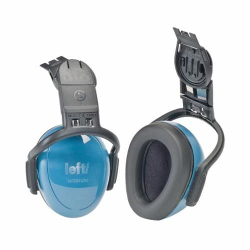 MSA 10087429 Dielectric Passive Hard Hat Ear Muffs, 25 dB, Blue, Plastic
