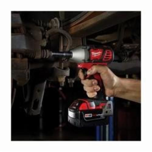 Milwaukee M18 2658-22 Compact Cordless Impact Wrench Kit With Friction Ring, 3/8 in Straight Drive, 0 to 3350 bpm, 167 ft-lb Torque, 18 VDC, 6 in OAL