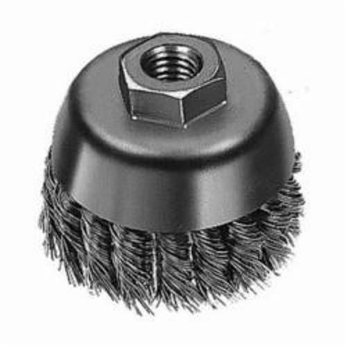 Milwaukee® 48-52-1350 Cup Brush, 4 in Dia, 5/8-11, 0.02/0.023 in Carbon Steel Knot Wire
