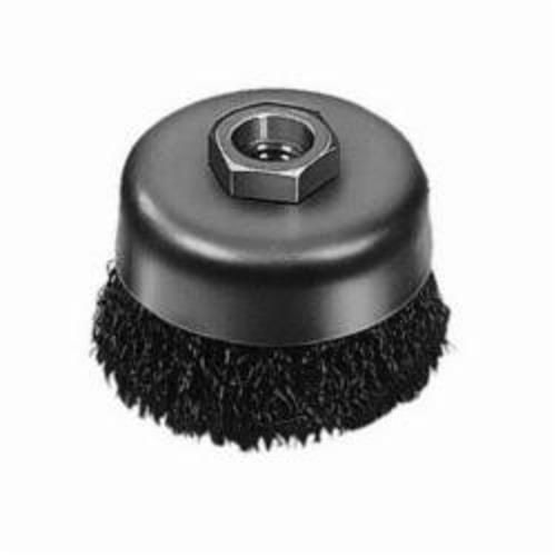 Milwaukee® 48-52-1600 Cup Brush, 6 in Dia, 5/8-11, 0.012/0.014 in Carbon Steel Crimped Wire