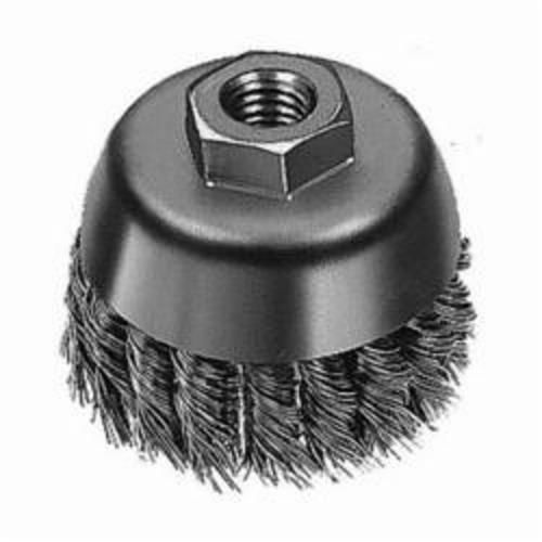 Milwaukee® 48-52-5040 Cup Brush, 2-3/4 in Dia, 5/8-11, 0.02/0.023 in Carbon Steel Knot Wire