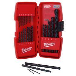 Milwaukee 48-89-2801 Thunderbolt Secure-Grip Drill Bit Set, 21 Pieces, Black Oxide