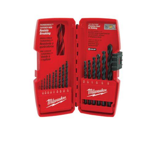 Milwaukee 48-89-2803 Thunderbolt Secure-Grip Drill Bit Set, 15 Pieces, Black Oxide