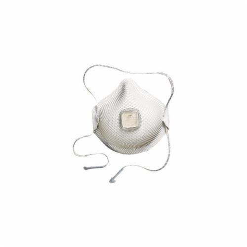 Moldex® 2741R95 Particulate Respirator With Ventex® Valve, S, R95, 95%, Cloth, White
