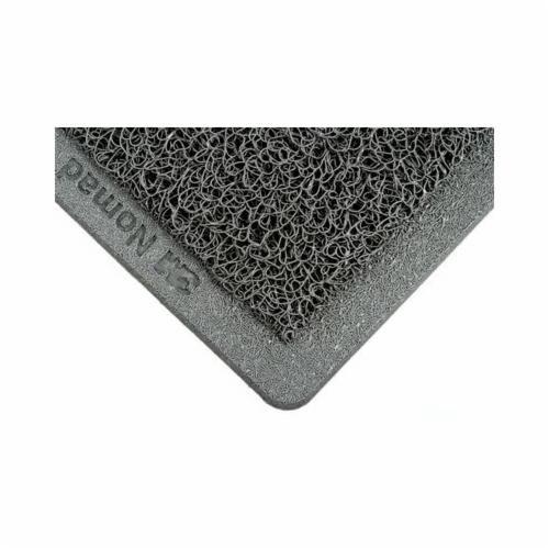 Nomad™ 6050 Backed Medium Traffic Scrapper Matting, 3 ft W x 5 ft L, 11 mm THK, Gray, Vinyl